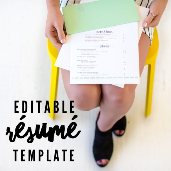 editable-resume-template