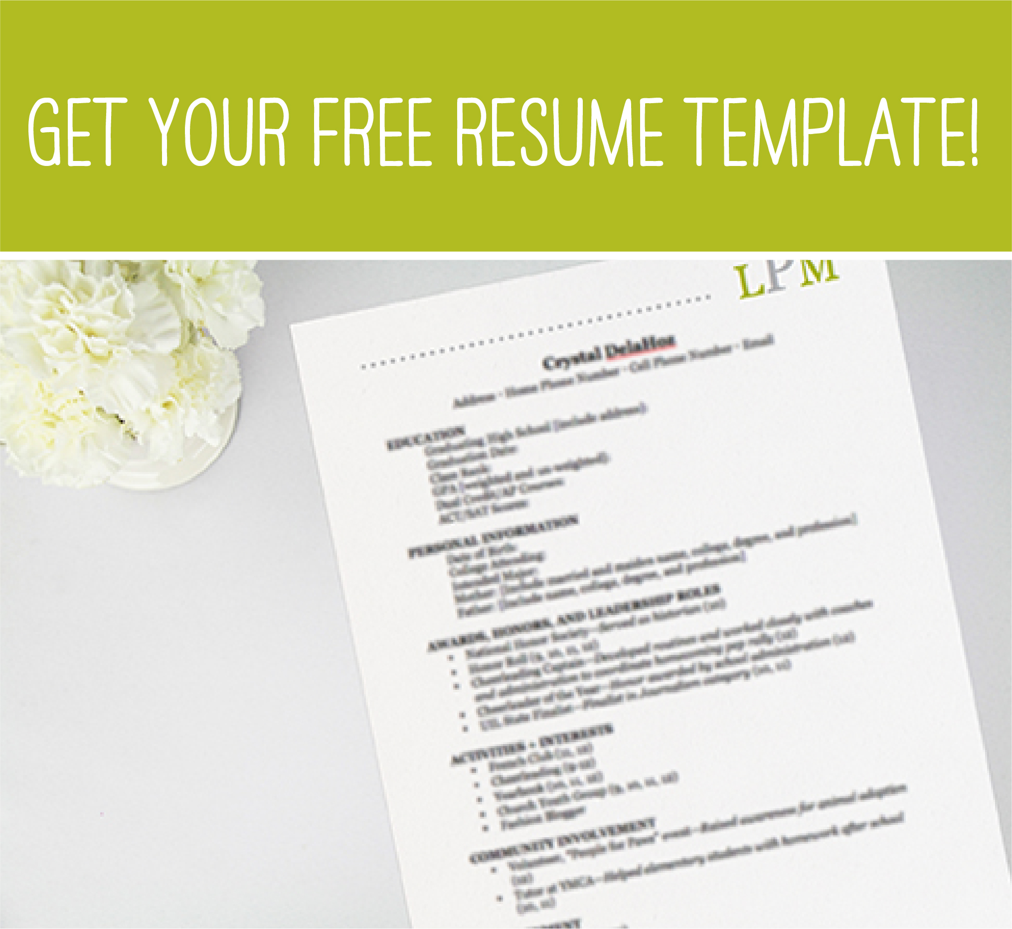 free rush template - Sorority Resume Template