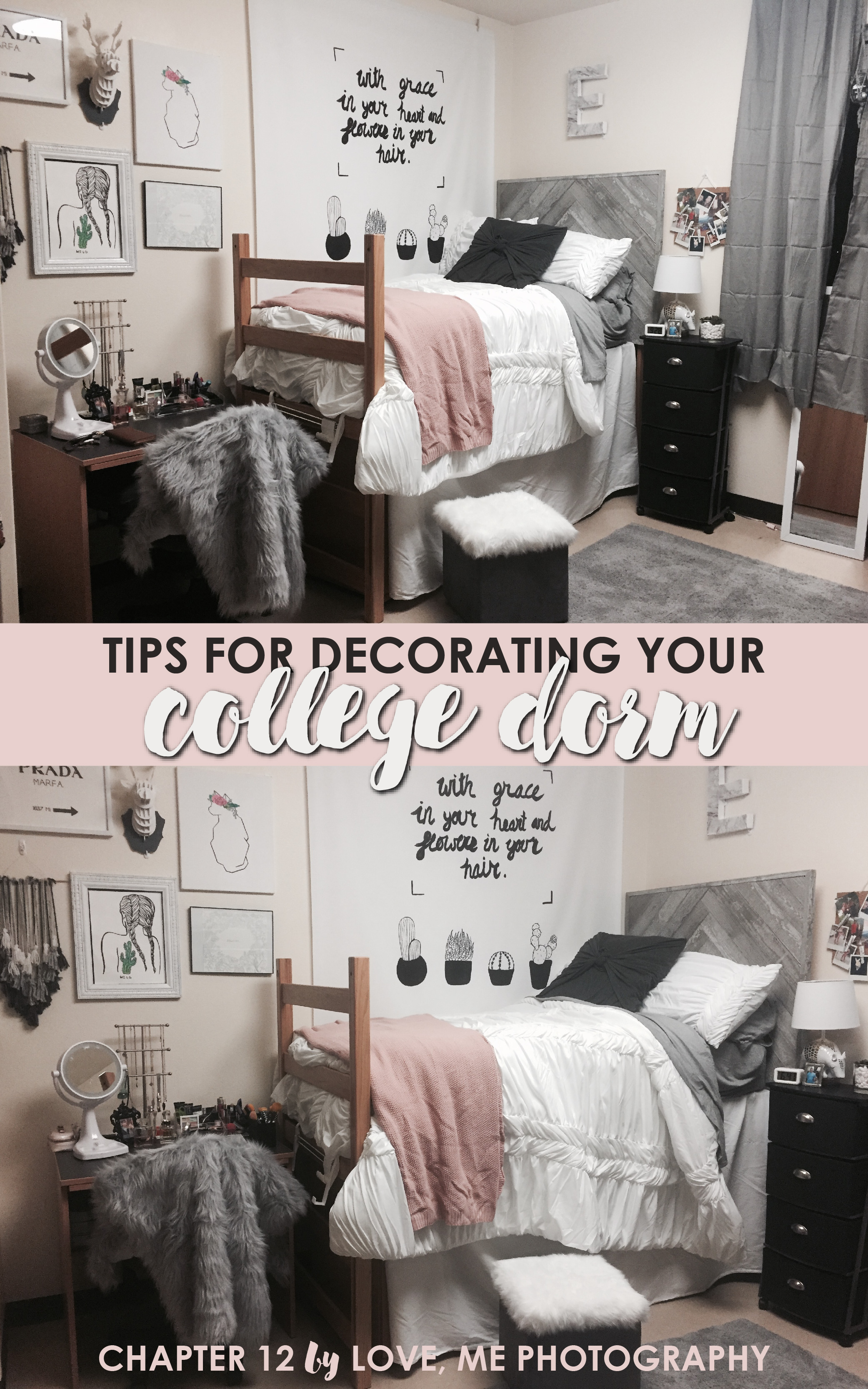 Creative dorm room ideas to make your space more cozy for How to make more space in your bedroom