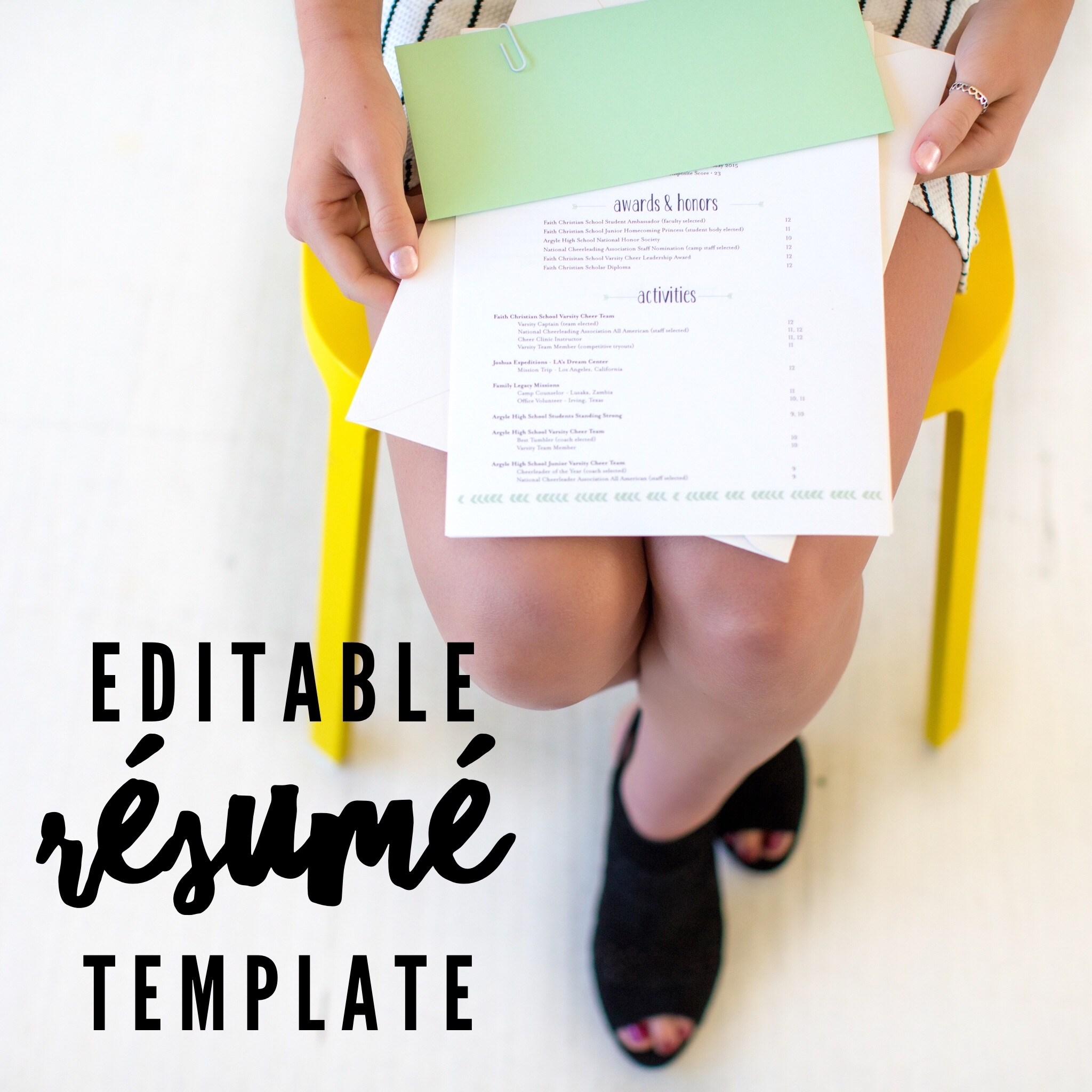 editable college resume template   chapter 12 launch